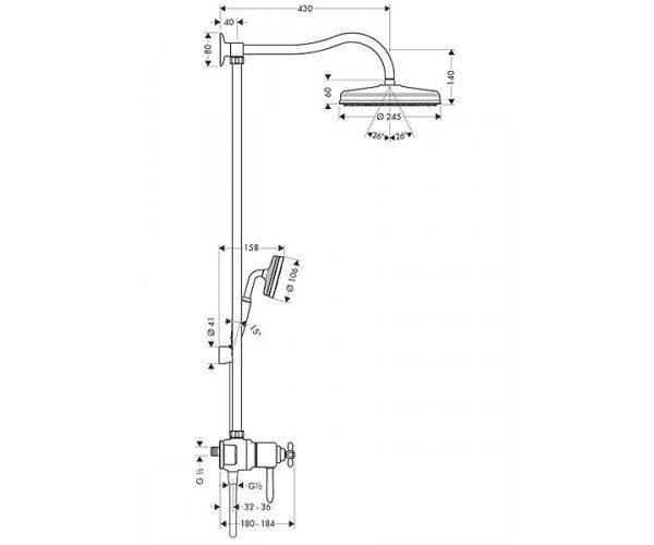 Душевая система AXOR CARLTON