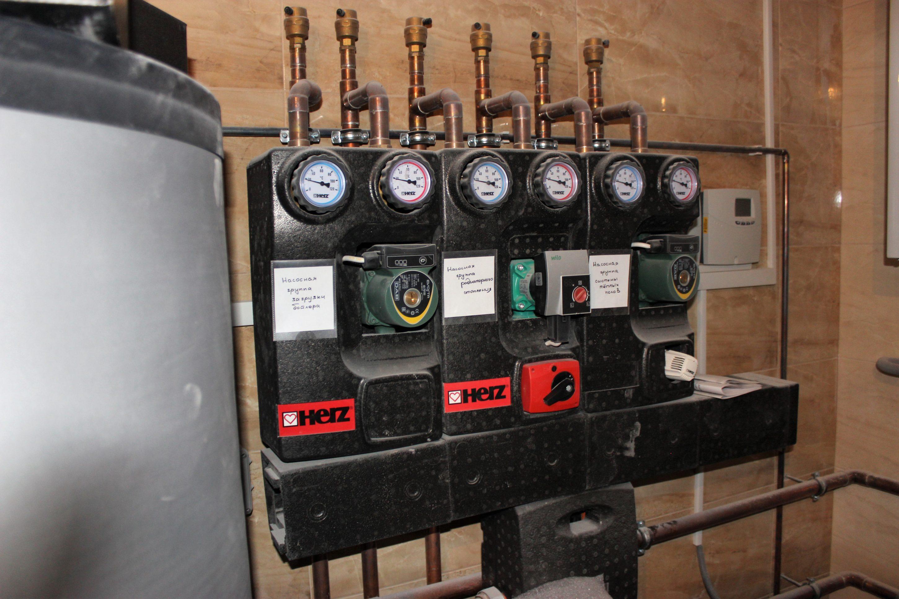 Отопление частного дома в Киевской области - Systems Engineering -топочная