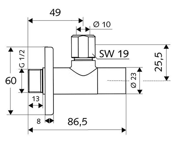 SCHELL Eckregulierventil STILE (05 376 06 99) - Systems Engineering - 2