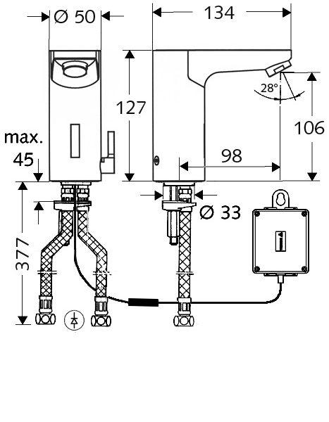 SCHELL Elektronische Waschtisch-Armatur CELIS E HD-M - Systems Engineering - 2
