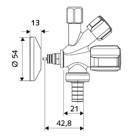 SCHELL Kombi-Eckventil QUICK COMFORT (03 504 06 99) - Systems Engineering - 2