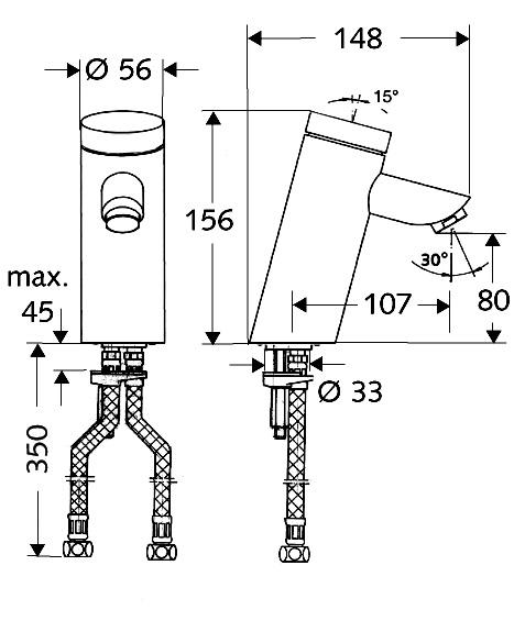 SCHELL Selbstschluss-Waschtisch-Armatur PURIS SC HD-M - Systems Engineering - 2